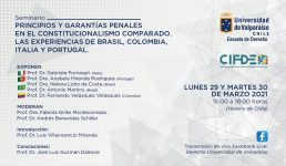 Afiche - Seminario CIFDE marzo 2021